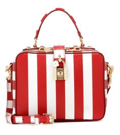 431b2cbe59 Dolce  amp  Gabbana Rosaria Striped Leather Shoulder Bag ( 1