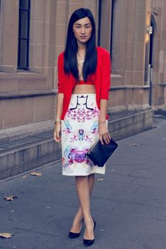 bralette-with-red-blazer-and-graphic-skirt