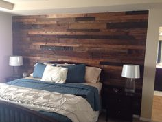 My amazing pallet wall! Can't wait to finish decorating the room now!