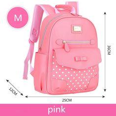 2172b9edbab1 New Fashion Children School Bags for Girls Backpack Kids BookBag Child  Printing Backpacks Girl Bow Suit satchel rucksack mochila