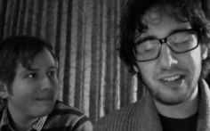 This gif of Josh and his brother Chris makes me giggle every time. Always. Those Groban boys... :)