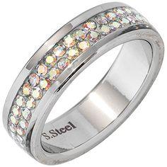 """Dreambase Damen-Ring """"Swarovski"""" Edelstahl 58 (18.5) Dreambase http://www.amazon.de/dp/B0147RMTXC/?m=A37R2BYHN7XPNV"""