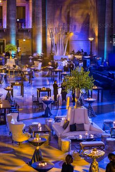 Chic lounge furniture and cocktail hour decor for a corporate event by HMR Desig… Chic lounge furniture and cocktail hour decor for a corporate event by HMR Designs at Union Station Chicago Event Themes, Event Venues, Event Decor, Gala Decor, Event Ideas, Union Station, Corporative Events, Corporate Event Design, Corporate Events Decor