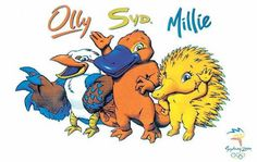 Ollie, Syd and Millie - 2000 Olympic Games in Sydney