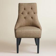 Khaki Linen Lydia Dining Chairs, Set of 2 | World Market