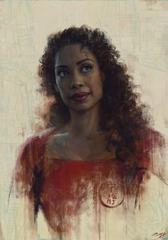 The image displayed shows Sam Spratt's process for sketching a portrait of Gina Torres. My focus on this image is how negative space and lighting was utilized. Firefly Series, Firefly Art, Firefly Serenity, Tv Series, Gina Torres, Joss Whedon, Westerns, Portraits, Buffy