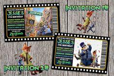 Zootopia Birthday Party Invitation  Digital by DottyDigitalParty