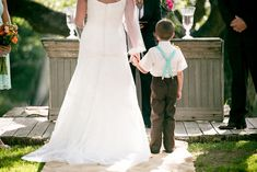 Real Wedding/Allison and Cameron. Sweet picture of bride and her son. Photography by Allison Jeffers. Read more...www.intimateweddings.com/blog #realwedding #smallwedding #rustic #barn