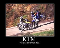 KTM  shows why motorcycles are fun.