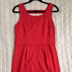 Scalloped Red Dress This is an adorable scalloped red dress that has a cut out in the back. Francesca's Collections Dresses Mini