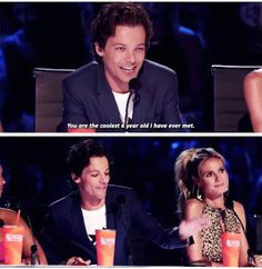 Louis being sweet and making this six year old's day on America's Got Talent Pinterest | @givememynameplx