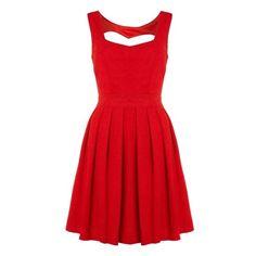 Fashion / Izabel London Pinafore top skater dress ($16) found on Polyvore