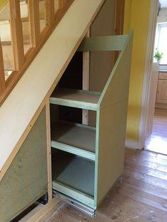 Super Living Room Storage Cupboards Under Stairs Ideas Closet Under Stairs, Under Stairs Cupboard, Basement Stairs, House Stairs, Under Stairs Drawers, Stair Drawers, Staircase Storage, Stair Storage, Staircase Design