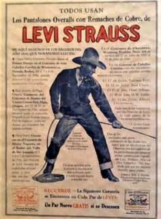 Levis Strauss & Co _ Los Pantalones Vintage Advertising, 1930s