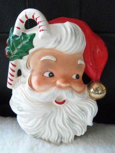 Vintage Christmas Santa Wall Pocket Wall Hanging Napco BX2459 | eBay