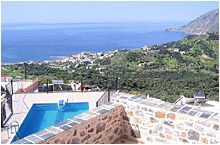 Mirthios Villa 500m from the small village of Mirthios with 2 tavernas and shops km from the beach and tavernas of Plakias. 2 bedrooms, outdoor bbq. £830 for a week in September.