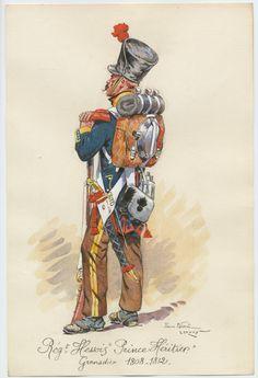 Grand Duchy of Hesse; Erbprinz Regiment of Infantry, Grenadier, 1808-12