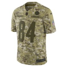 877169333 NFL Pittsburgh Steelers Salute to Service Limited Jersey (Antonio Brown)  Men s Football Jersey Size S (Camper Green)