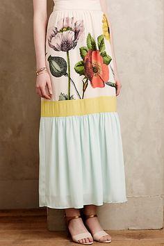 Botanique Maxi Skirt #anthropologie
