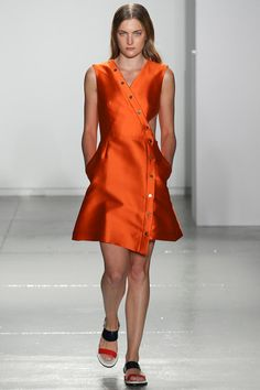 Suno Spring 2014 Ready-to-Wear Collection Slideshow on Style.com More orange!  Prints are giving way to solids next year.