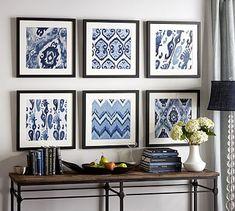 Framed Ikat Prints #potterybarn