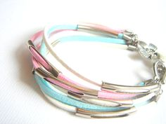 Pastel Leather BraceletSummer Leather Bracelet by accessory8, $20.00