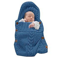 DEARWEN Newborn Baby Blanket Sleeping Bag Sleep Sack Stroller Wrap for 0-12 Months Baby(Blue) - $12.99