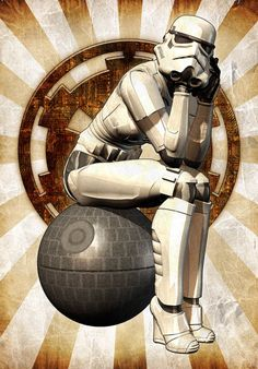 Female storm trooper pin up