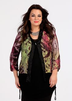 Plus Size Outfits – Plus Size Apparel and Tops Online at TS14 Plus - COLOUR OF NIGHT CRUSHED JACKET - TS14