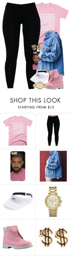 Untitled #1427 by power-beauty ❤ liked on Polyvore featuring NIKE, Michael Kors and Timberland #timberlandoutfits