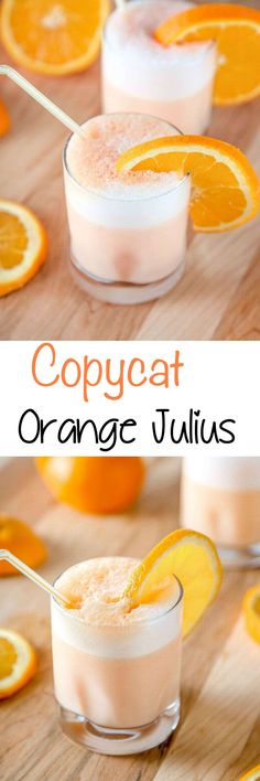 Copycat Orange Julius Recipe:  Save yourself a trip to the mall with this cool and creamy orange smoothie that tastes even better than the Orange Julius. Ready in 5 minutes, with only 4 common ingredients!