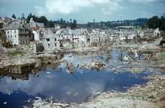 Saint-Lô, Normandy, summer 1944. | The Ruins of Normandy: Unpublished Color Photos From France, 1944    Read more: http://life.time.com/history/after-d-day-unpublished-color-photos-from-normandy-summer-1944/#ixzz2WnWYQpXv