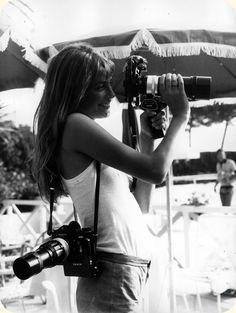 Jane Birkin  with Nikon