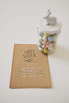 Easter egg decorating party with free invitation printable via seejaneblog