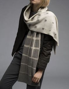 This is actually a knit but would be a nice double weave