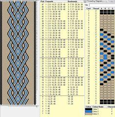 tablet weaving Diy Craft Table diy pallet craft table with shelf underneath Inkle Weaving Patterns, Weaving Loom Diy, Inkle Loom, Card Weaving, Weaving Textiles, Weaving Art, Art Du Fil, Willow Weaving, Diy Couture