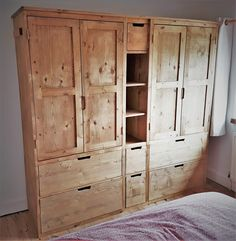 Our built in bedroom storage wardrobes & drawers are designed to perfectly your space and handmade from sustainable natural wood in our Somerset workshop. Metal Patio Furniture, Pallet Garden Furniture, Bedroom Furniture Makeover, Apartment Furniture, Rustic Furniture, Scandinavian Furniture, Furniture Ideas, Mirrored Bedroom Furniture, Girls Bedroom Furniture