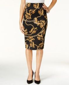 3dd10fb5e Thalia Sodi Printed Scuba Pencil Skirt, Created for Macy's - Pink XXL |  Pinterest | Thalia, Scubas and Pencil skirts