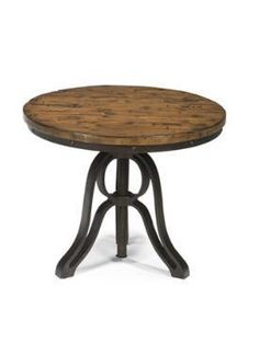 Cranfill Industrial Style Round End Table with Adjustable Height by Magnussen Home at Bennett's Home Furnishings End Tables For Sale, Round End Tables, Side Tables, Living Room End Tables, Dining Table, Console Tables, Bedroom Furniture Inspiration, Nebraska Furniture Mart, Decoration