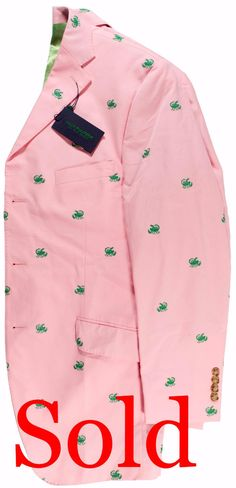 """Lilly Pulitzer ""Scorpion' Embroidered Cocktail Blazer"" Sz: 42R (Sold!)"