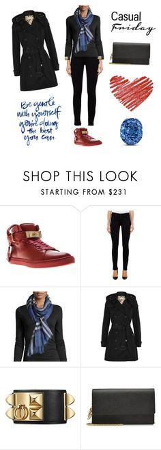 """""""IVYMIND POWER DRESSING Casual Friday"""" by ivymind on Polyvore featuring Mode, BUSCEMI, AG Adriano Goldschmied, Burberry und Alexander McQueen"""