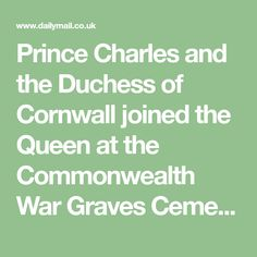 Prince Charles and the Duchess of Cornwall joined the Queen at the Commonwealth War Graves Cemetery in Bayeux.
