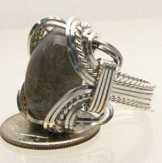 Handmade Wire Wrapped Labradorite Sterling Silver by JandSGems,