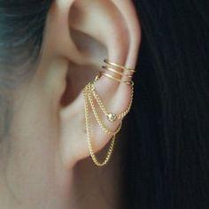 piercing ajustavel de orelha