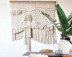 Tropical contemporany macrame wall art / wall hanging / ranran design