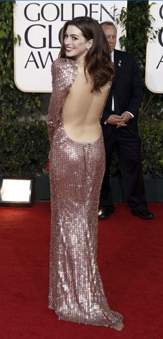 The Fashion Dealer: Anne Hathaway: Best Dressed in Armani Prive at the 2011 Golden Globes
