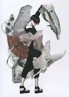 Fashion collaboration project with photographer Yin Chao and Editor Ujin Zhao for Chinese fashion magazine Vision. These collages were inspired by the work of the late Lee Alexander McQueen for a special edition issue about the talented fashion designer. Ashkan Honarvar has incorporated various aspects of the designer's work into this series, such as McQueen's fascination with animals and motion, and the apparent contradiction between strength and fragility. #fashiondesigners