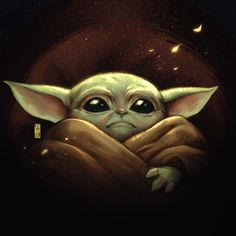 Star Wars Art Baby Yoda The Mandalorian Star Wars Fan Art, Star Wars Baby, Yoda Pictures, Yoda Drawing, Yoda Meme, Star Wars Wallpaper, Iphone Wallpaper, Galaxy Painting, Painting Inspiration