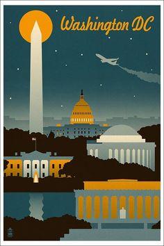 vintage-amtrak-poster-washington-dc.jpg (664×996)