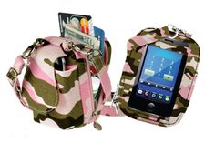Camouflage PursePlus Touch  Fits ALL phones - touch-screen capabilities in back of bag  Available in following colors:  Pink Camo  Green Camo  $15.99  http://store.charm14.com/camouflage-purseplus-touch-p2450.aspx